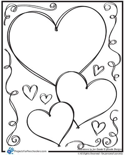 400x496 Spring Coloring Pages For Preschool Valentine Heart