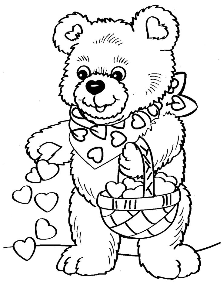 736x939 Best Valentines Day Coloring Images On Valentines