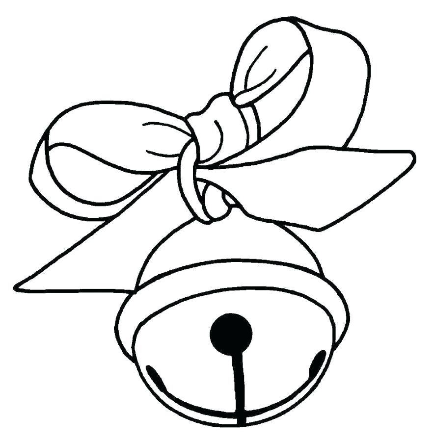 884x899 Christmas Bells Coloring Pages Simple Free Jingle Bell