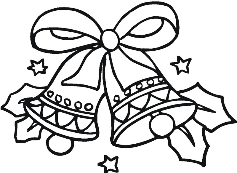 800x584 Christmas Bell Coloring Page Christmas Bell Working Sheets