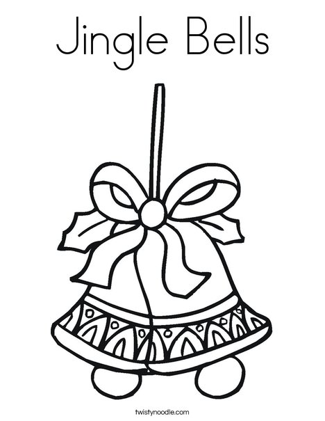 468x605 Jingle Bells Coloring Page