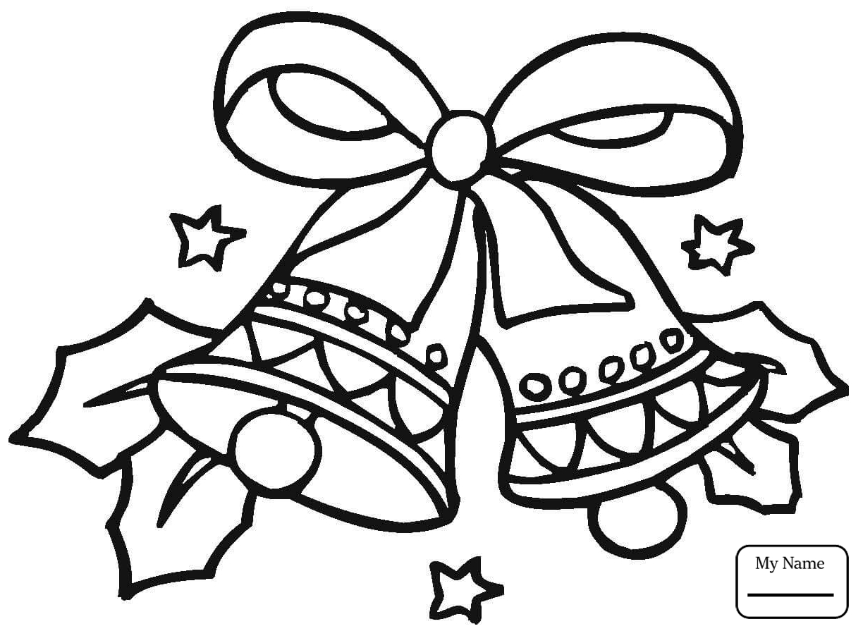 1224x895 Bell Coloring Pages Christmas Jingle Bells Holidays