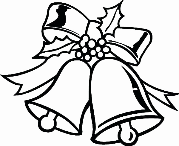 600x488 Jingle Bells Coloring Pages Pics Bell Coloring Page Bell Coloring