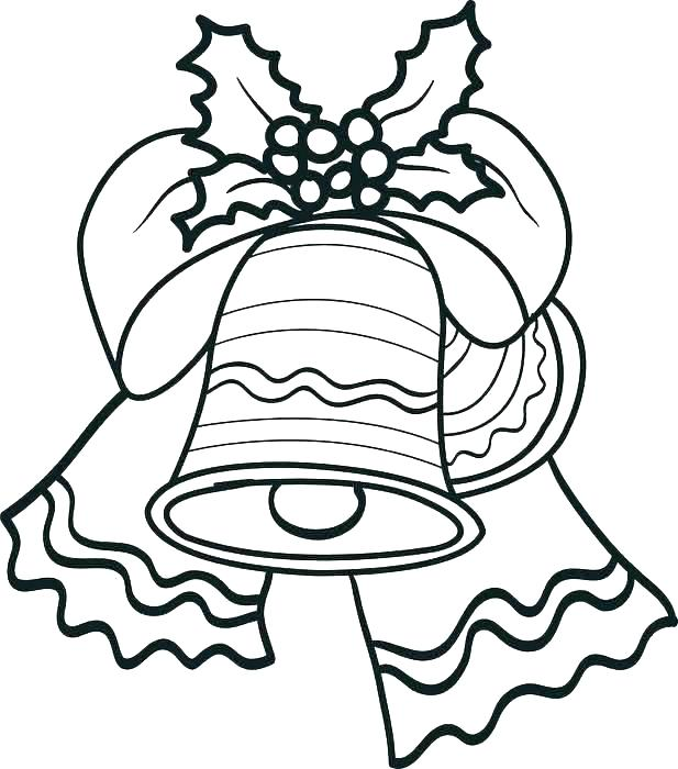 617x700 Christmas Bell Coloring Pages