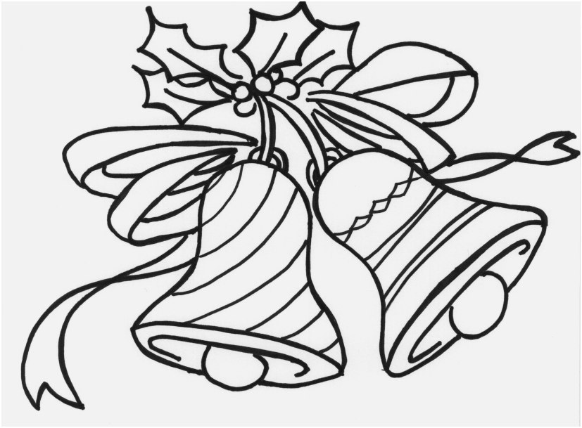 827x609 Bell Coloring Pages Printable Footage Jingle Bell Coloring Page
