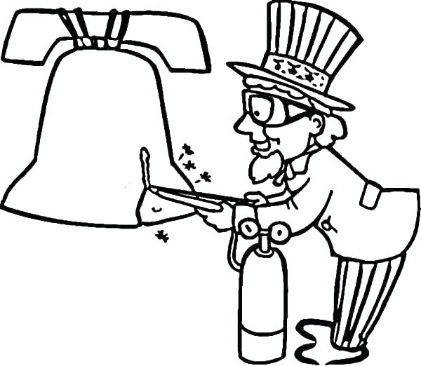 600x522 Bells Coloring Pages Trend Liberty Bell Coloring Page Fee Uncle