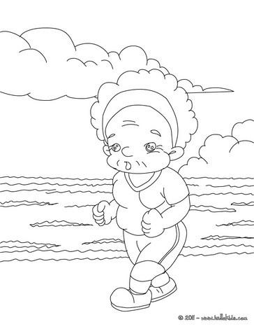 364x470 Jogging Grandma Coloring Pages