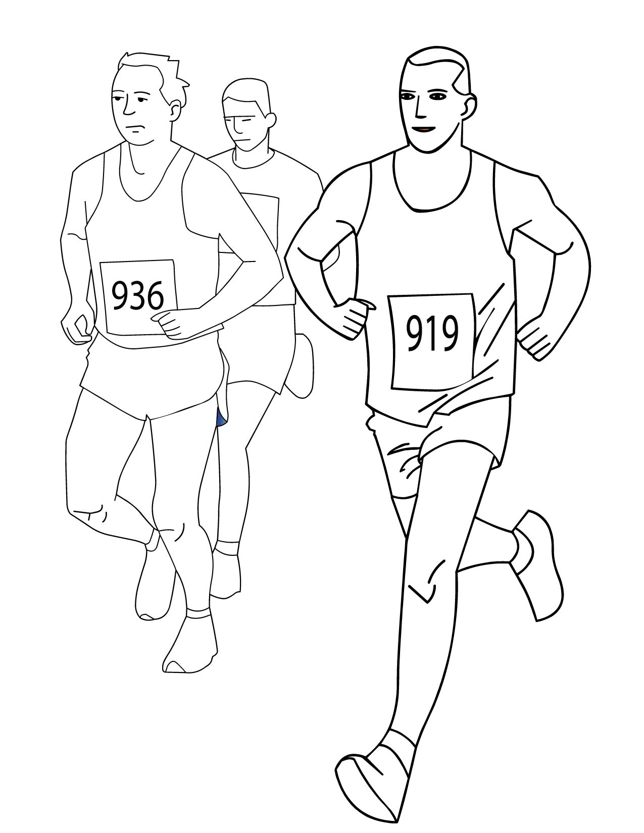1275x1650 Running Coloring Pages