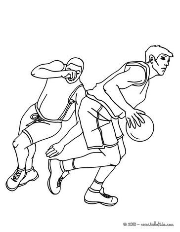 364x470 Beautiful Basketball Players Running Coloring Page More Sports