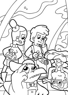 236x330 Cyberchase Joggers Cyberchase Coloring Pages