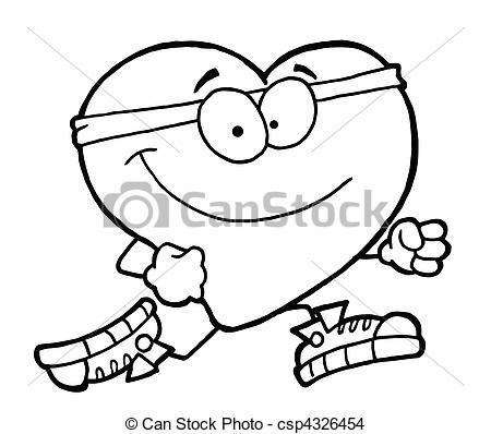 450x398 Vector Of Jogging Heart