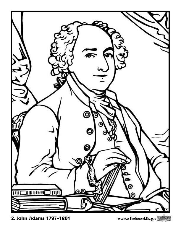 612x792 Coloring Page John Adams