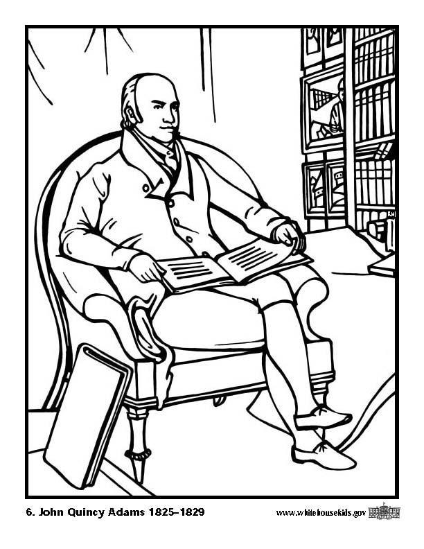 612x792 Coloring Page John Quincy Adams