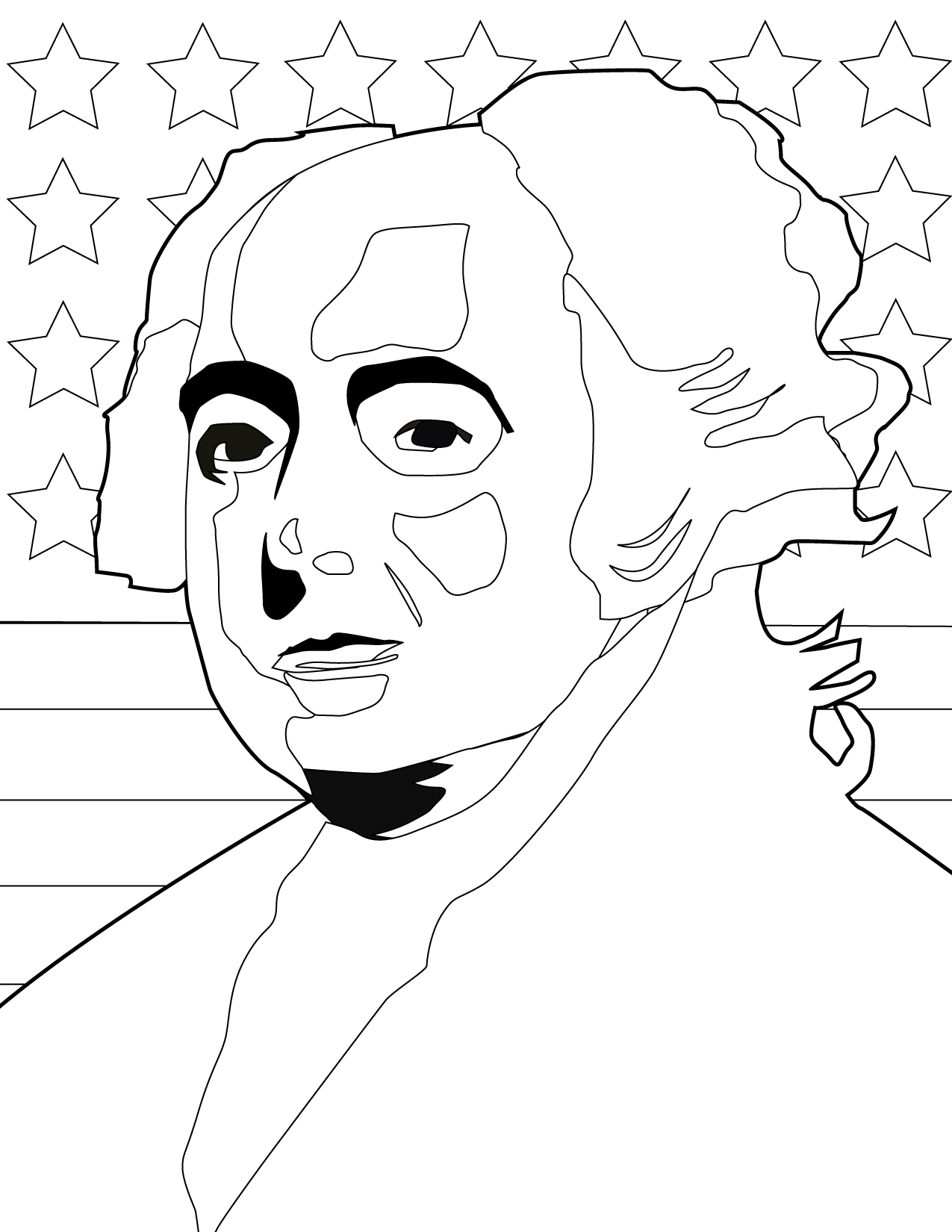 1275x1650 John Adams Coloring Page