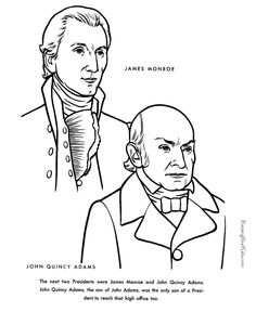 236x288 American Presidents John Adams Coloring Pages And Colouring