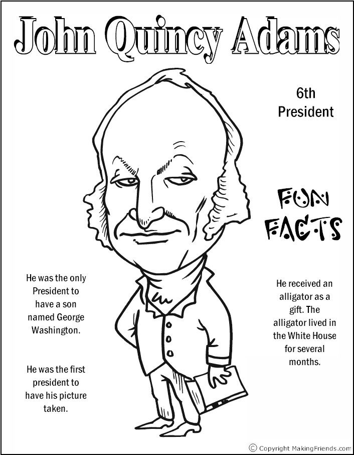 706x906 John Quincy Adams Coloring Page Coloring Pages