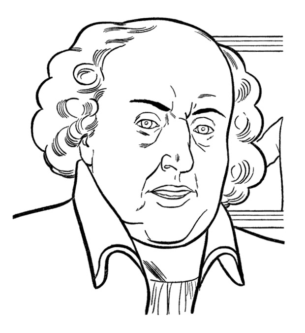 620x676 President Day John Adams Coloring Pages Kids Coloring Pages