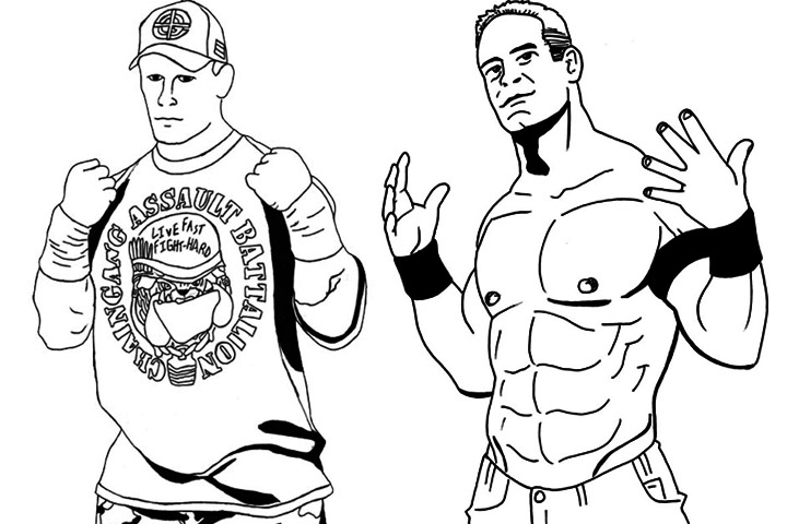 720x480 Innovation Idea John Cena Coloring Pages To Print Printable Wwe