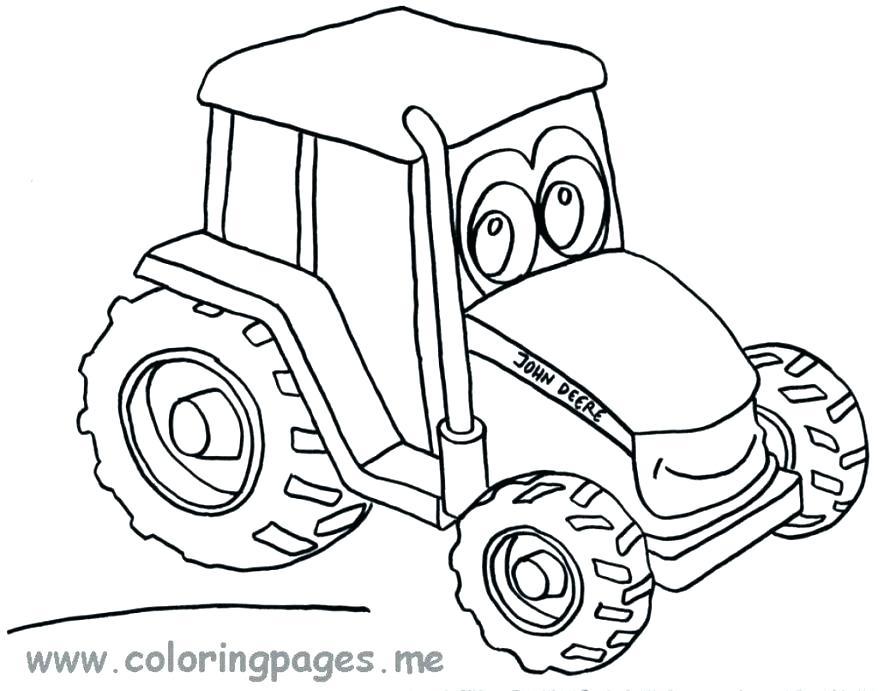 878x691 John Deere Coloring Page John Coloring Sheets Coloring John