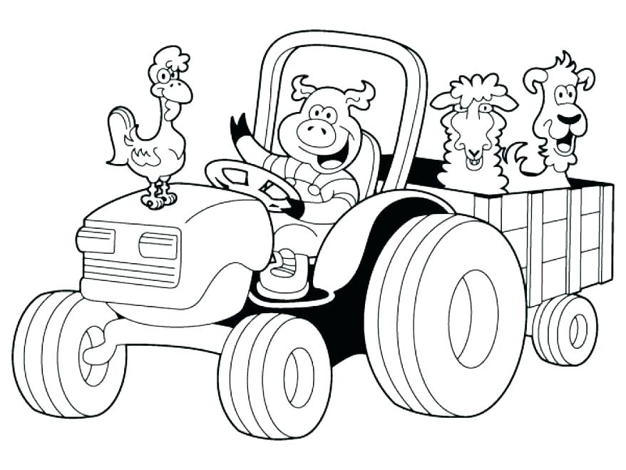 878x659 John Deere Coloring Pages John Deere Coloring Pages Combine