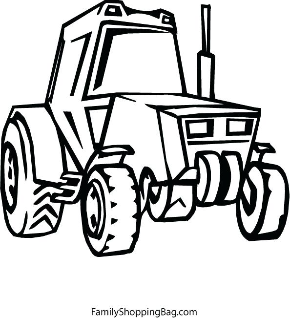 594x651 John Color Coloring Pages John Deere Combine Coloring Page