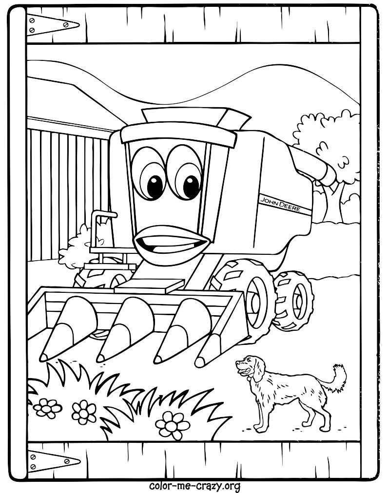 John Deere Tractor Coloring Pages To Print at GetDrawings ...