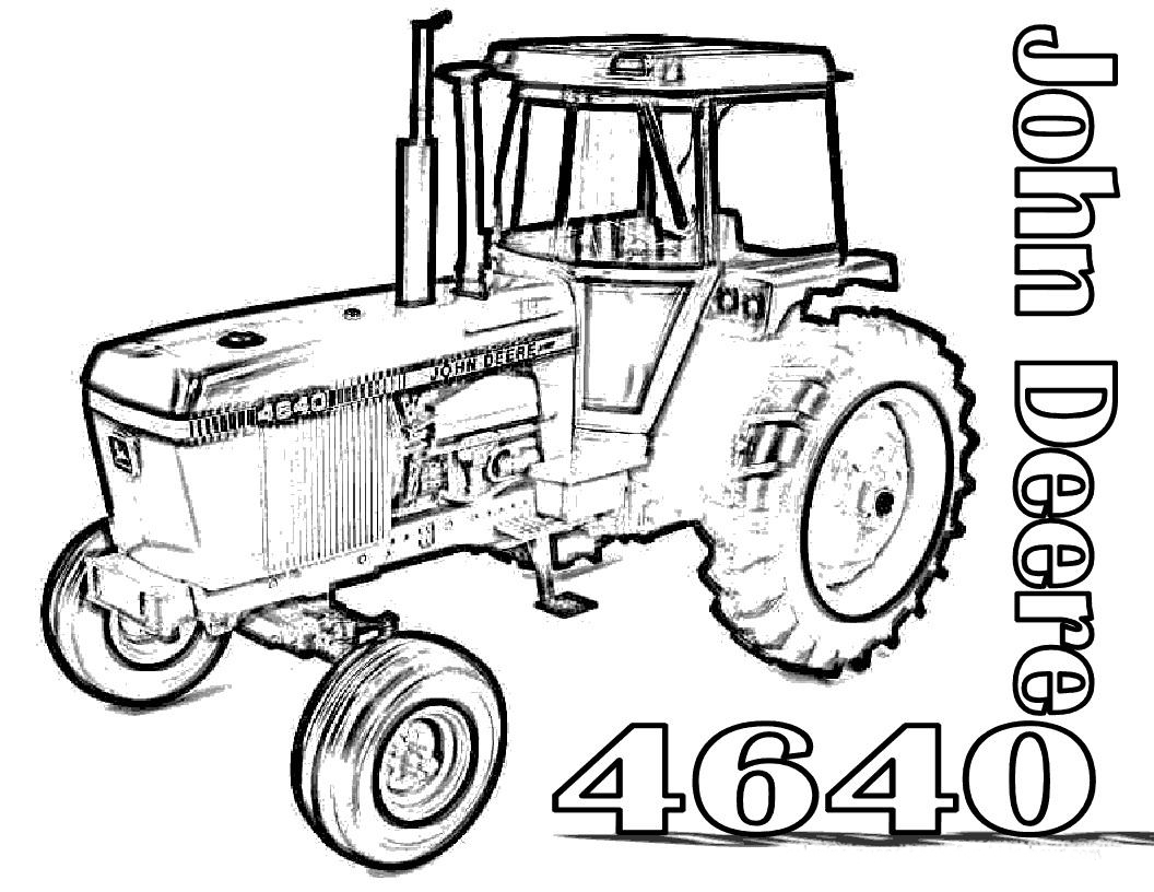 1056x816 John Deere Color Pages John Deere Tractor Coloring Pages