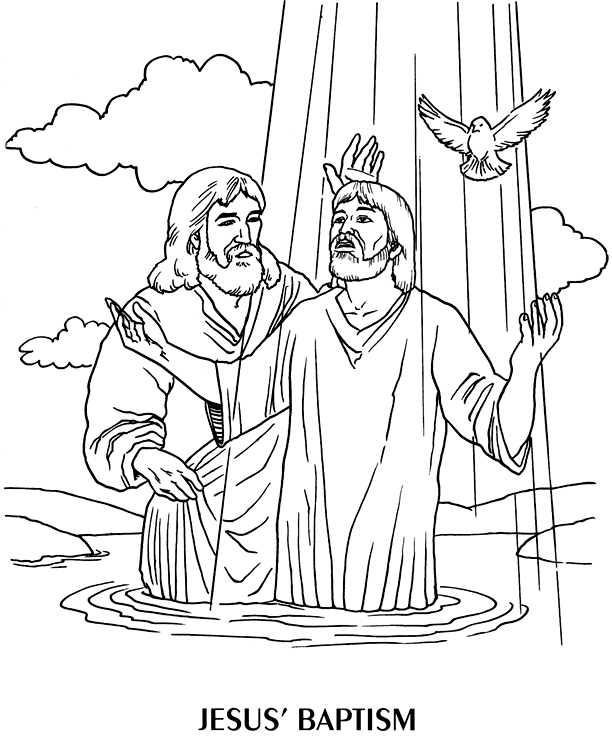 John The Baptist Coloring Page