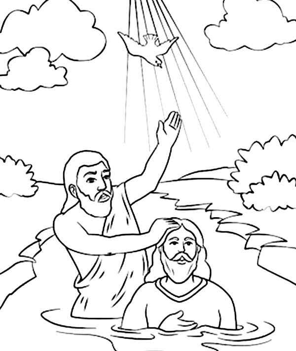 600x711 Holy Spirit Came Down In John The Baptist Coloring Page