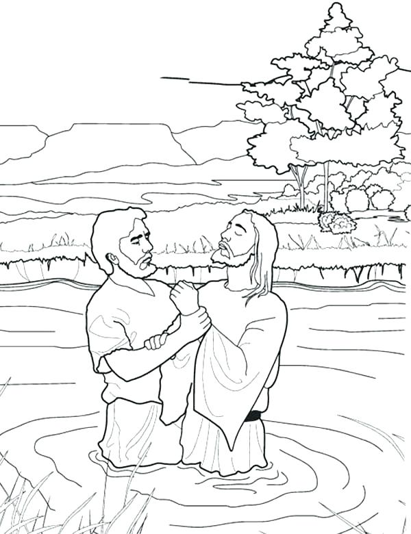 600x780 John The Baptist Coloring Page With John The Baptist Coloring