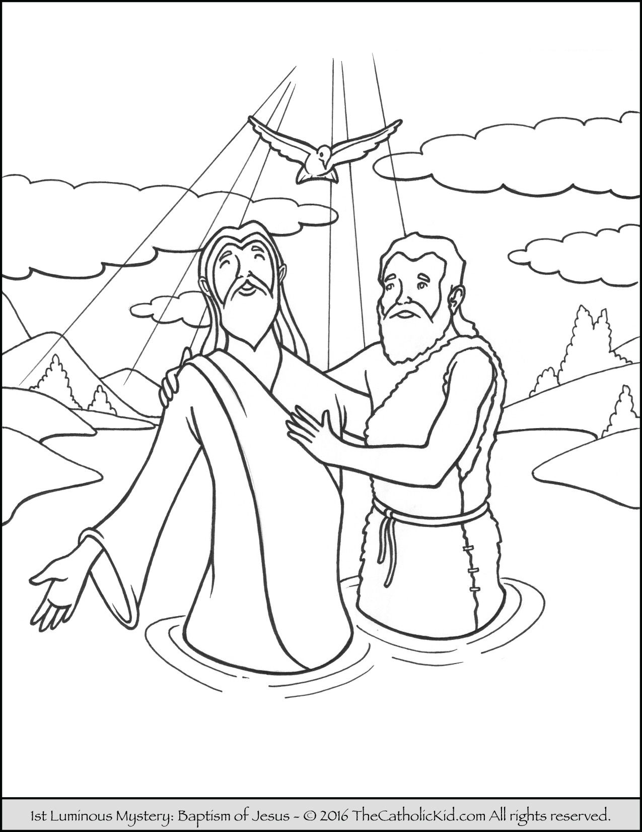 1275x1650 Saint John The Baptist Coloring Pages Catholic Kid New Baptism