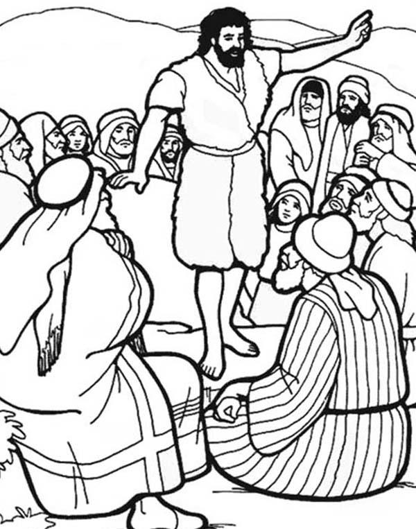 600x763 John The Baptist Coloring Pages John The Baptist Baptizes Jesus