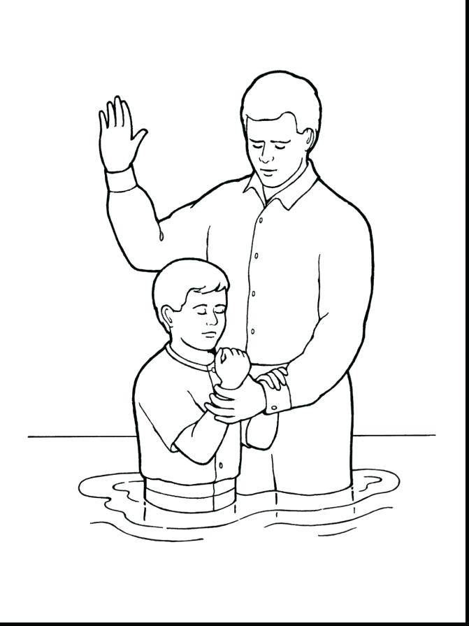 671x895 Baptism Coloring Page S On Saint John The Baptist Coloring Pages