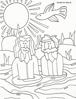 250x323 Baptism Of Jesus Coloring Pages