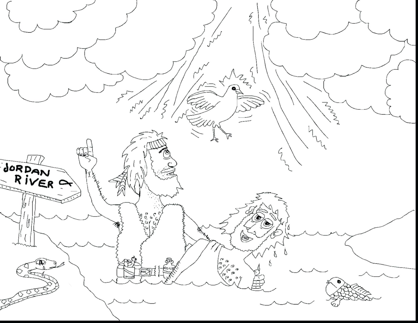 1760x1359 Birth Of John The Baptist Coloring Page Free Christian Pages