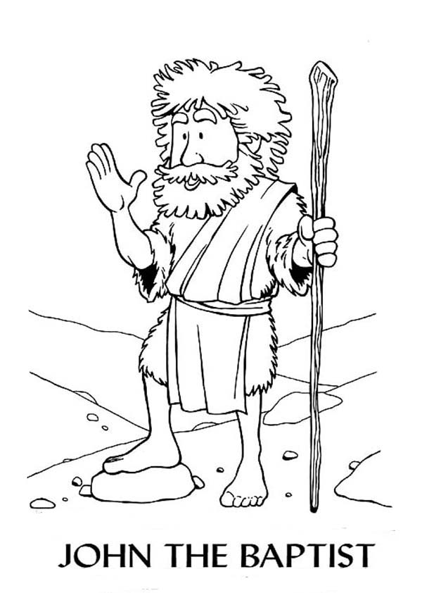 600x842 Cartoon Of John The Baptist Coloring Page