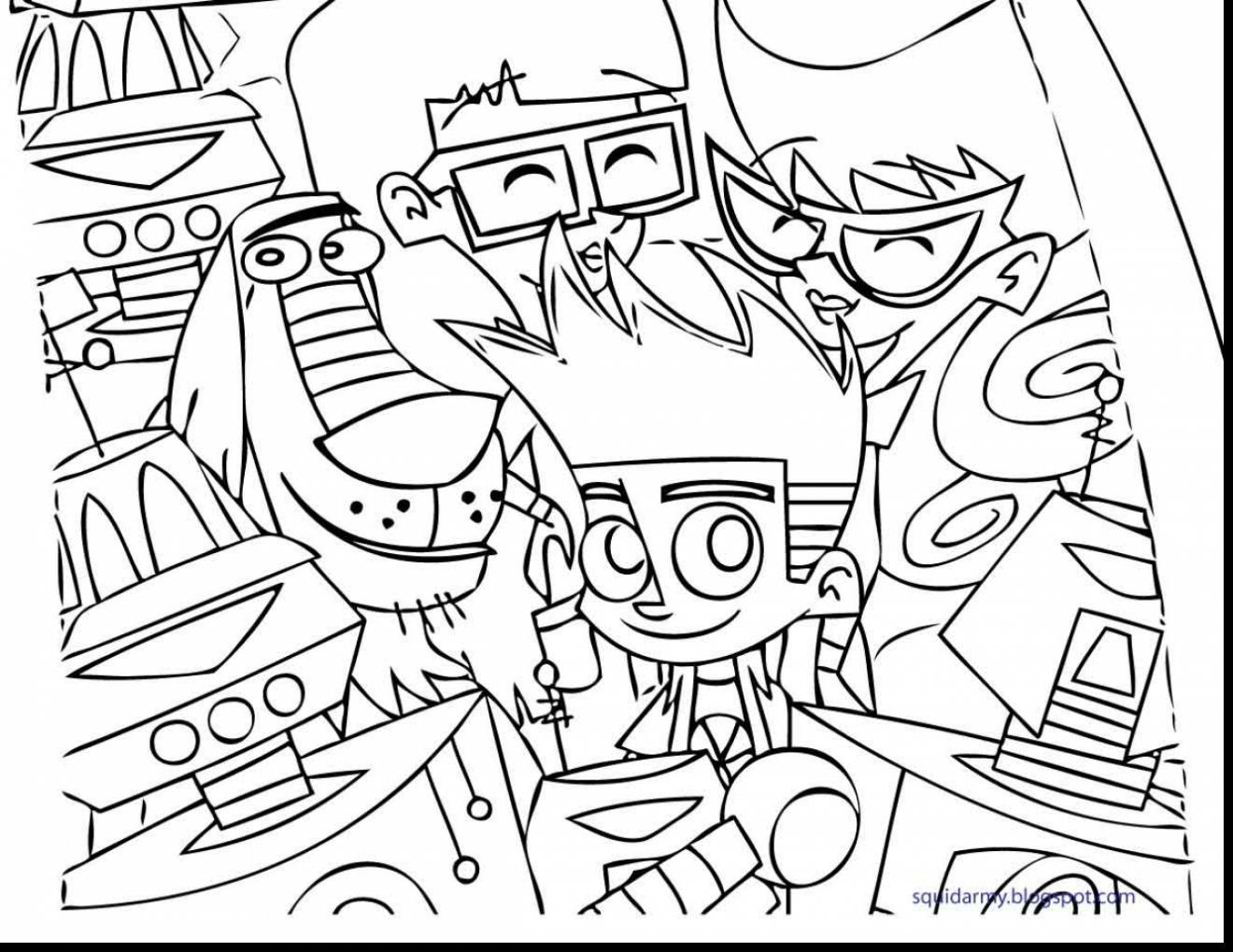 1320x1019 Johnny Test Coloring Pages