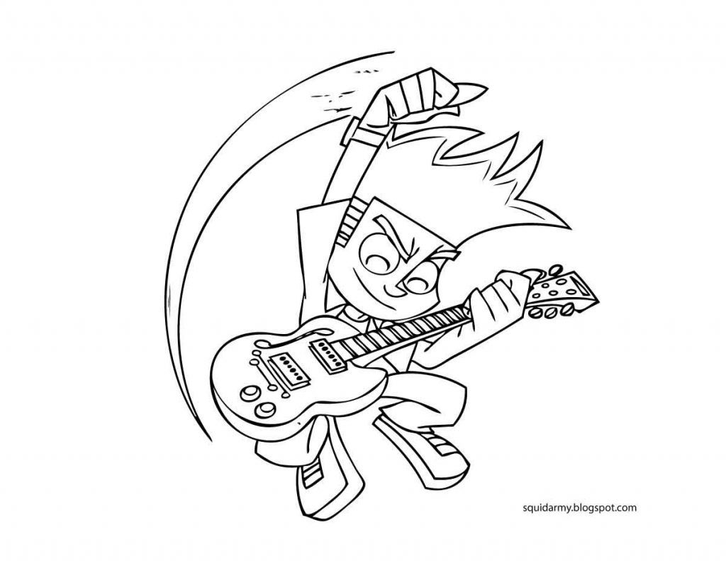 1024x791 Johnny Test Coloring Pages Best Coloring Book For Free Downloads