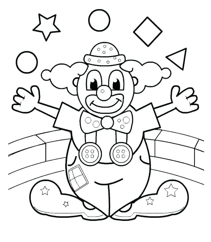 697x799 Clown Coloring Pages Printable Scary Clown Coloring Pages Coloring