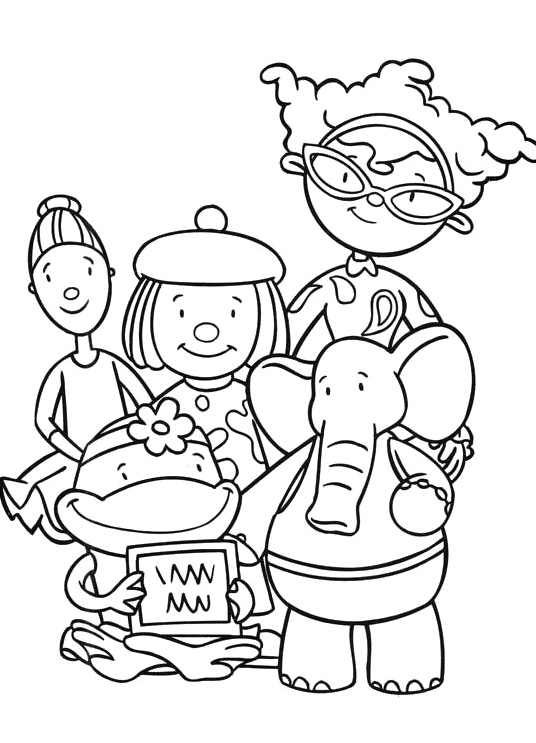 536x743 Family Jojo Circus Coloring Pages Coloring