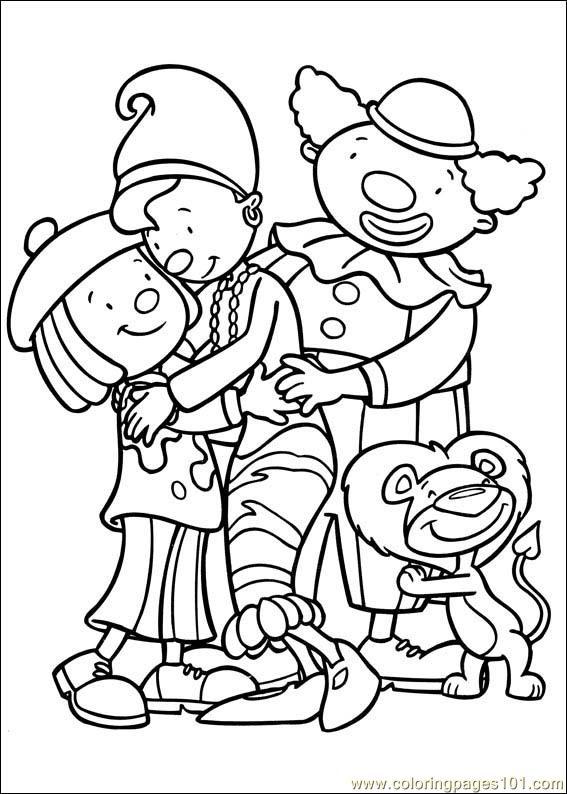 567x794 Jojo Circus Coloring Page