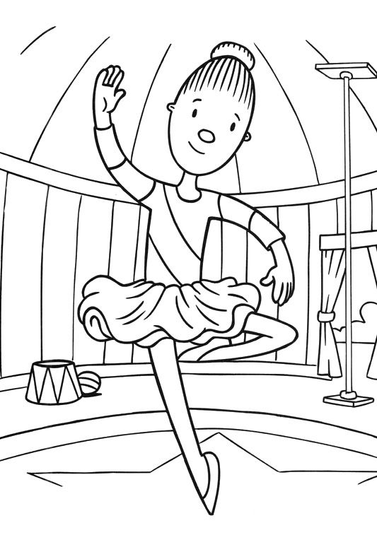 533x757 Jojo Circus Attractions With Vivacious Coloring Pages Coloring