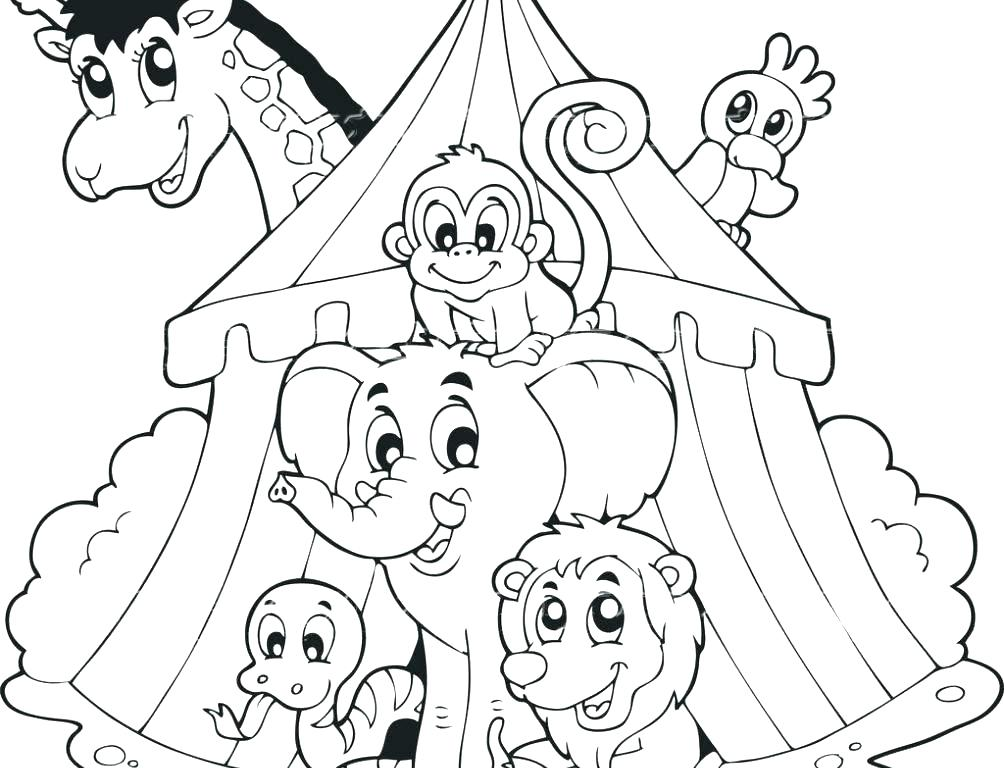 1004x768 Circus Coloring Page Circus Tent Jojos Circus Colouring Pages