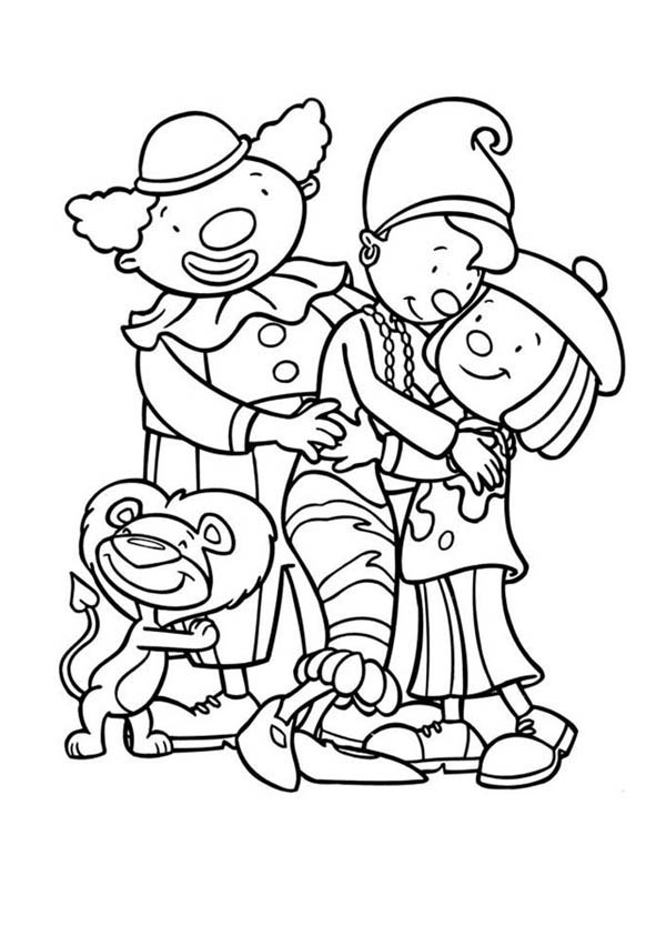 600x834 Jojo And Friends Hugging In Jojo's Circus Coloring Page