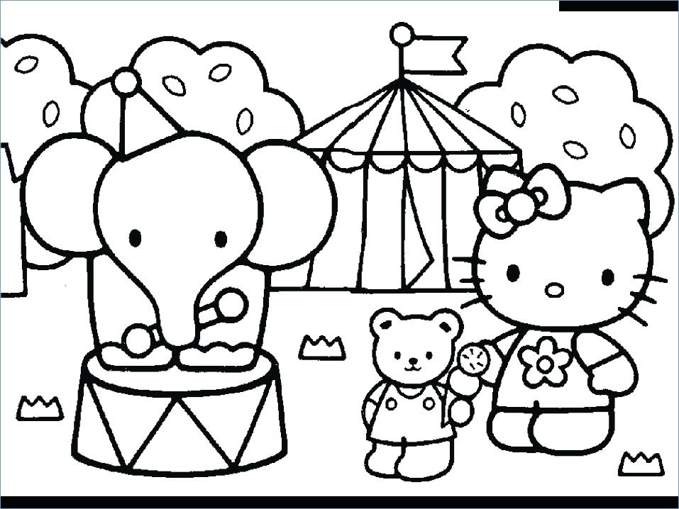 957x718 Circus Coloring Pages Circus Baby Coloring Page