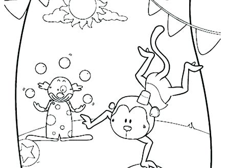 440x330 Circus Coloring Pages Printable Circus Coloring Page Circus