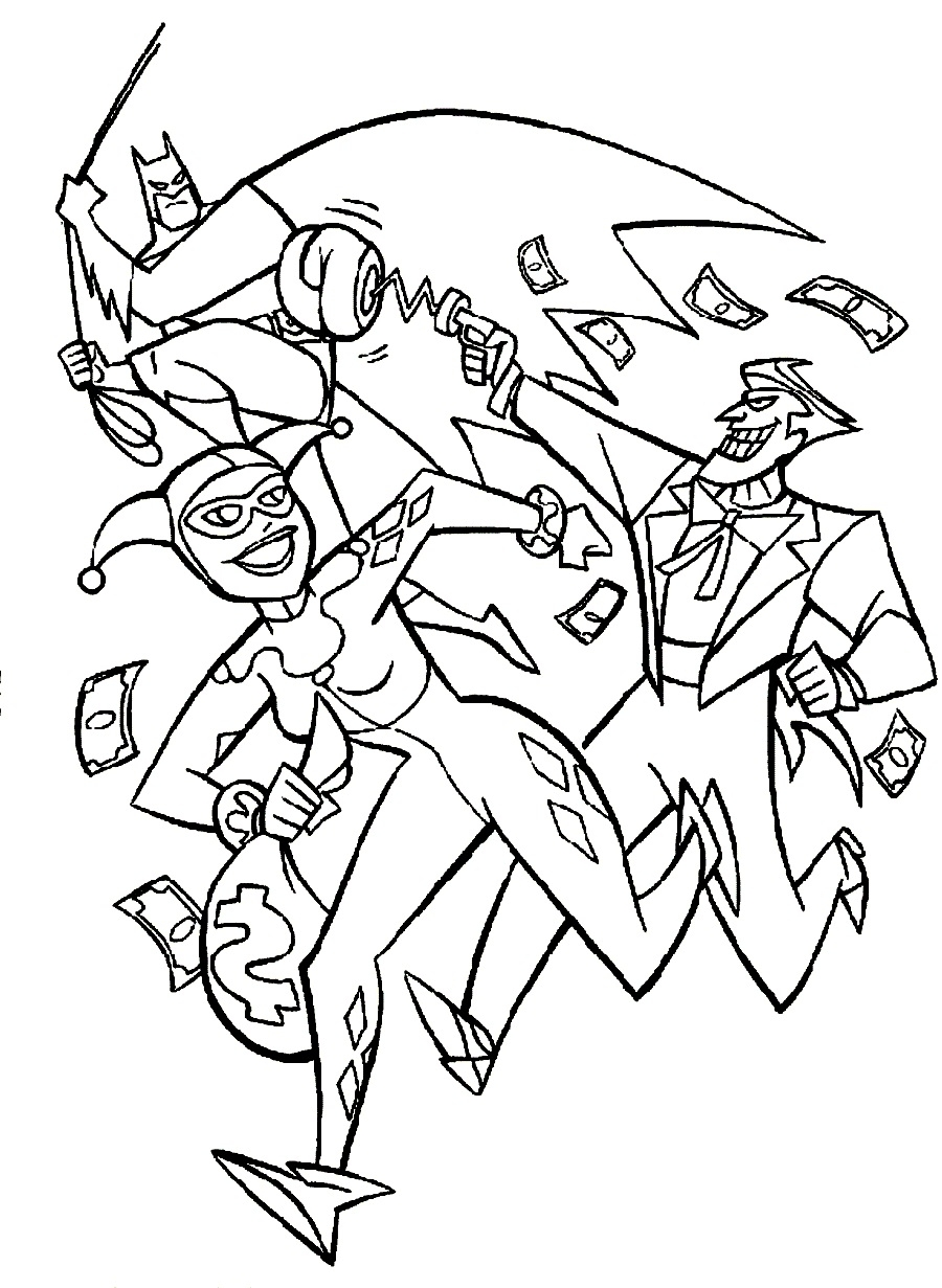 Joker And Batman Coloring Pages