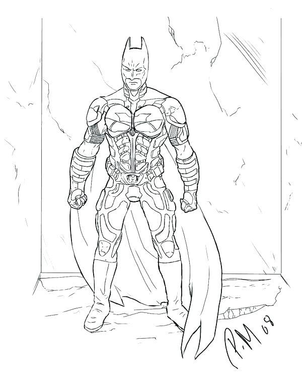 600x739 Batman For Coloring