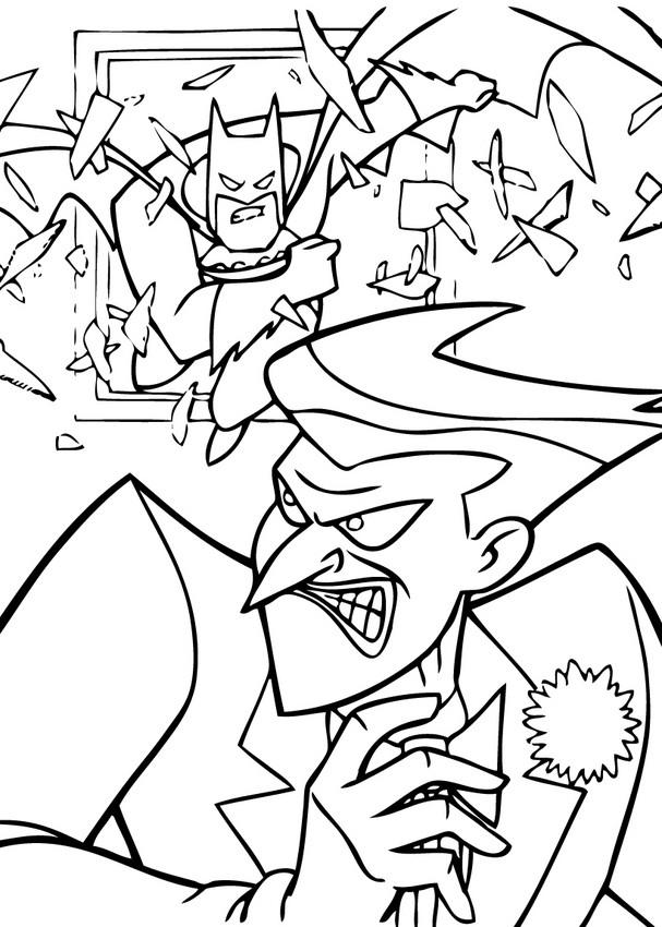 607x850 Batman Coloring Pages
