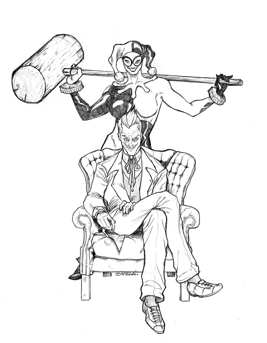 900x1158 Harley Quinn Coloring Pages